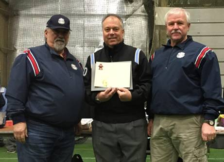 From left – NYSBUA President Ron Gabriel, Eric Olsen clinic co-chair, Dennis Williams, NYSBUA Sergeant At-Arms.